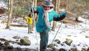 Wandelen met kinderen in de winter