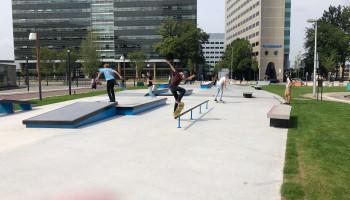 Tijdelijk Urban Sport Park naast Utrecht CS brengt leven in de brouwerij